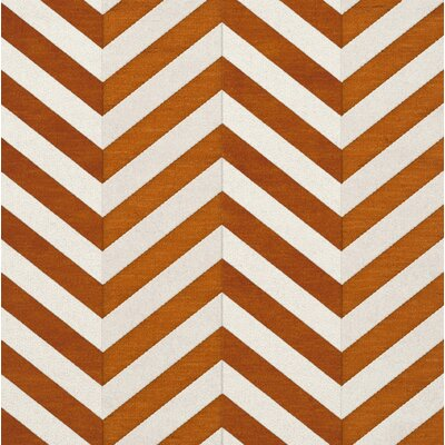 Shepler Wool Tangerine Area Rug Rug Size: Square 4