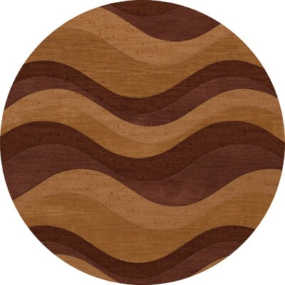 Halley Wool Harvest Area Rug Rug Size: Round 6