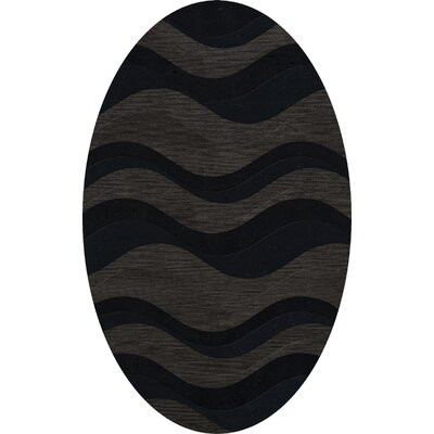 Hambrook Wool Shadow Area Rug Rug Size: Oval 6 x 9
