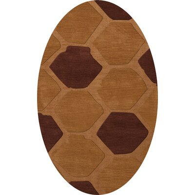 Hamswell Wool Cider Area Rug Rug Size: Oval 4 x 6