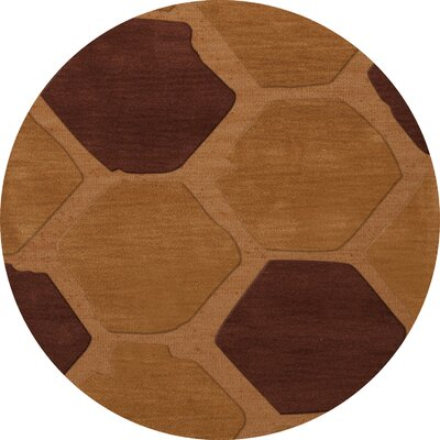 Hamswell Wool Cider Area Rug Rug Size: Round 10