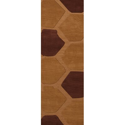 Hamswell Wool Cider Area Rug Rug Size: Runner 26 x 8