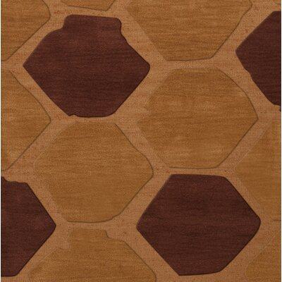 Hamswell Wool Cider Area Rug Rug Size: Square 12