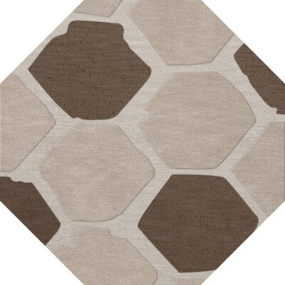 Hannibal Wool Croissant Area Rug Rug Size: Octagon 4