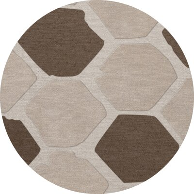 Dunson Wool Croissant Area Rug Rug Size: Round 8