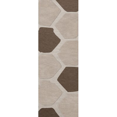 Dunson Wool Croissant Area Rug Rug Size: Runner 26 x 10