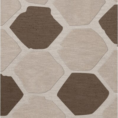 Dunson Wool Croissant Area Rug Rug Size: Square 10