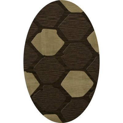 Hanover Wool Fennel Area Rug Rug Size: Oval 10 x 14