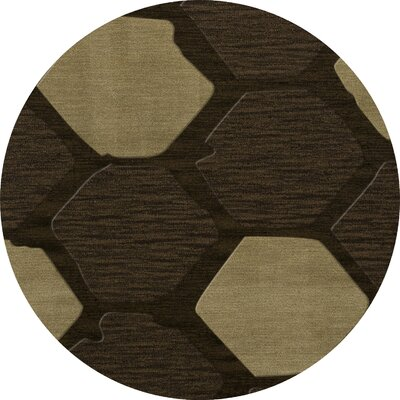Hanover Wool Fennel Area Rug Rug Size: Round 6