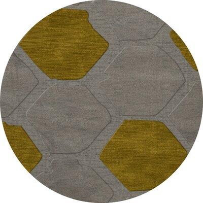 Harman Wool Flagstone Area Rug Rug Size: Round 6
