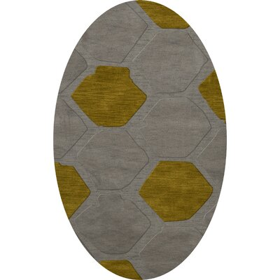 Harman Wool Flagstone Area Rug Rug Size: Oval 3 x 5