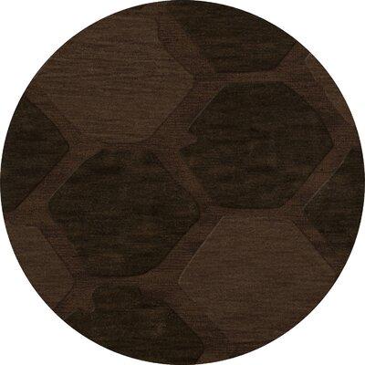 Harmonia Wool Nutmeg Area Rug Rug Size: Round 4