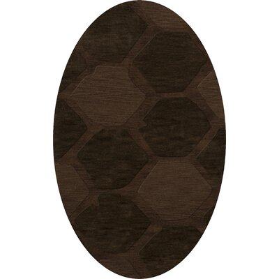 Harmonia Wool Nutmeg Area Rug Rug Size: Oval 12 x 18