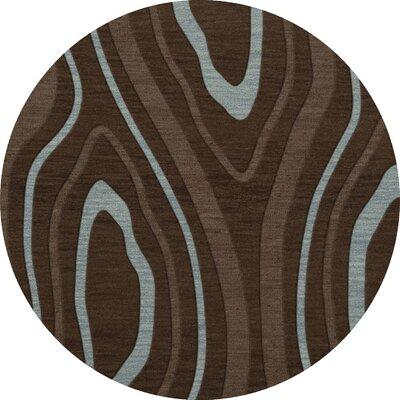 Sarahi Wool Cork Area Rug Rug Size: Round 12
