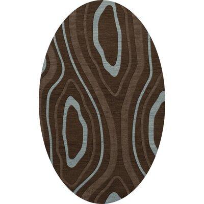 Sarahi Wool Cork Area Rug Rug Size: Oval 8 x 10