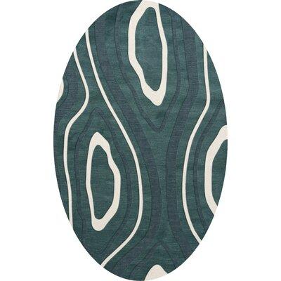 Sarahi Wool Geyser Area Rug Rug Size: Oval 12 x 15