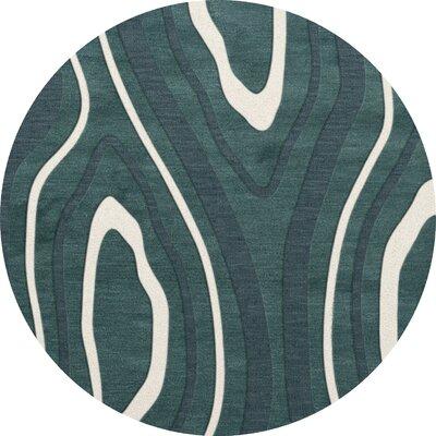 Sarahi Wool Geyser Area Rug Rug Size: Round 8