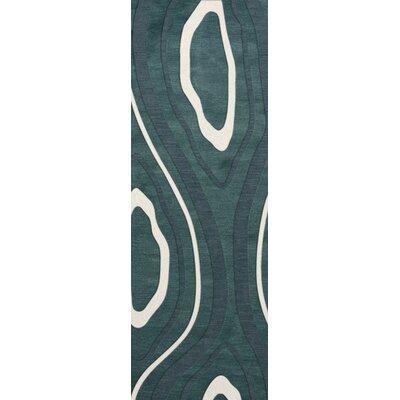Sarahi Wool Geyser Area Rug Rug Size: Runner 26 x 8