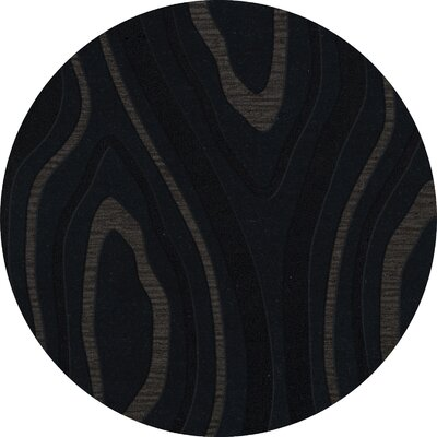 Ireland Wool Pepper Area Rug Rug Size: Round 8