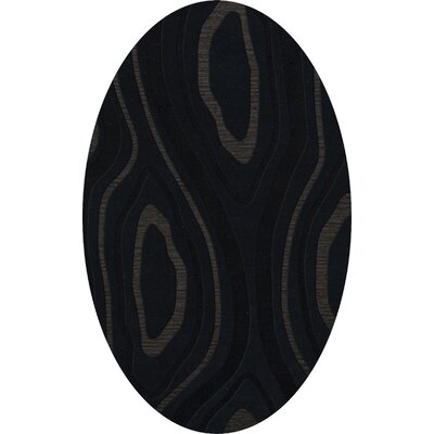 Ireland Wool Pepper Area Rug Rug Size: Oval 12 x 18
