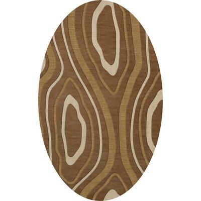 Sarahi Wool Rattan Area Rug Rug Size: Oval 5 x 8