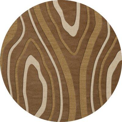 Sarahi Wool Rattan Area Rug Rug Size: Round 6
