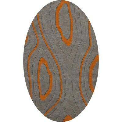 Sarahi Wool Zinc Area Rug Rug Size: Oval 9 x 12