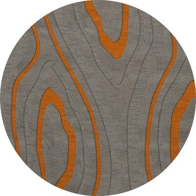 Sarahi Wool Zinc Area Rug Rug Size: Round 10