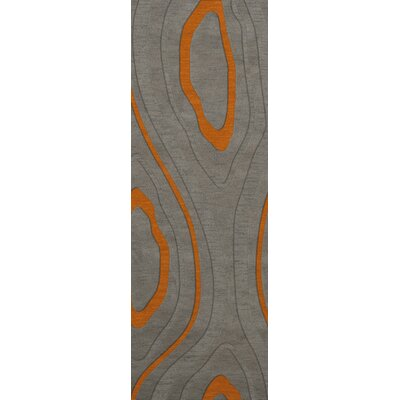Sarahi Wool Zinc Area Rug Rug Size: Runner 26 x 8