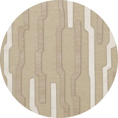 Hartsdale Wool Chopstick Area Rug Rug Size: Round 4