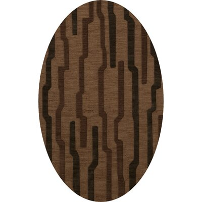 Hartranft Wool Clove Area Rug Rug Size: Oval 5 x 8