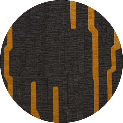 Haskett Wool Seal Area Rug Rug Size: Round 6
