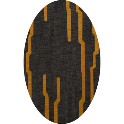Haskett Wool Seal Area Rug Rug Size: Oval 12 x 18