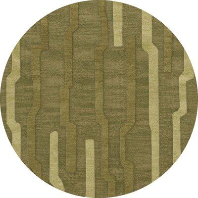 Haslett Wool Tarragon Area Rug Rug Size: Round 8'