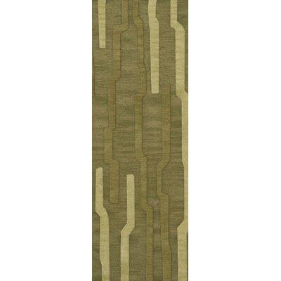 Haslett Wool Tarragon Area Rug Rug Size: Runner 26 x 10