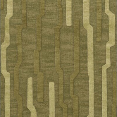 Haslett Wool Tarragon Area Rug Rug Size: Square 6