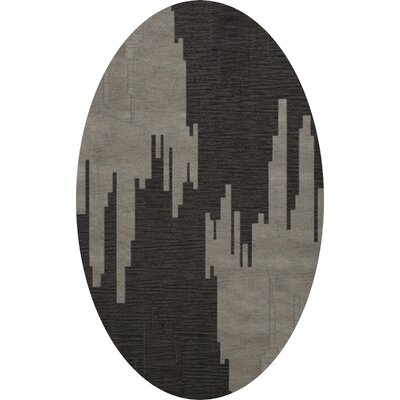 Hasse Wool Chinchilla Area Rug Rug Size: Oval 6 x 9