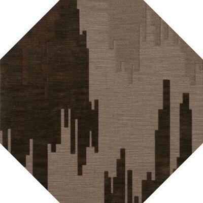 Haskin Wool Earth Area Rug Rug Size: Octagon 6