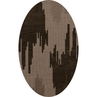Haskin Wool Earth Area Rug Rug Size: Oval 9 x 12