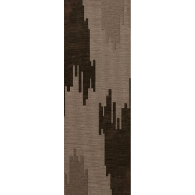 Haskin Wool Earth Area Rug Rug Size: Runner 26 x 8