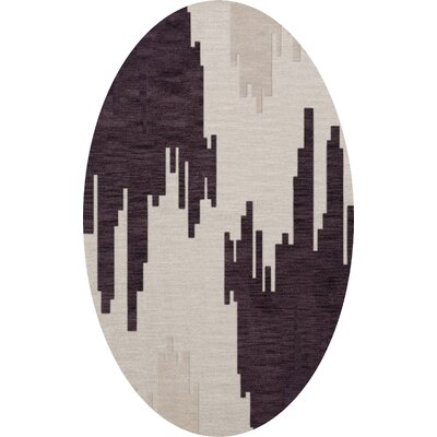 Hassell Wool Royalty Area Rug Rug Size: Oval 3 x 5