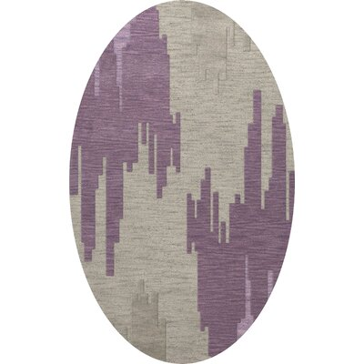 Haslett Wool Thistle Area Rug Rug Size: Oval 4 x 6