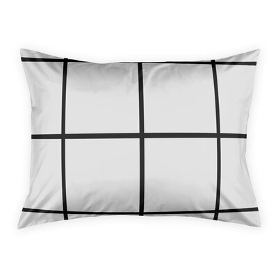 Queens Boulevard Grid Pillow Sham Size: Standard
