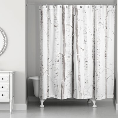 Bain Birch Trees Shower Curtain