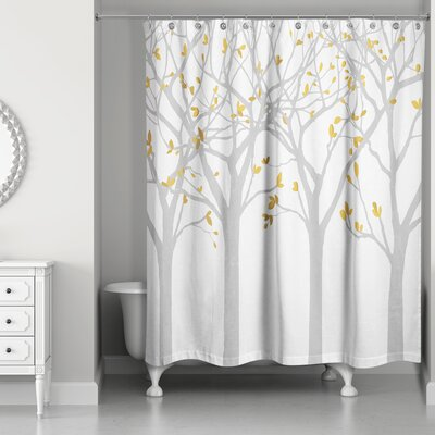 Hofstetter Tree Silhouettes Shower Curtain Color: Gray