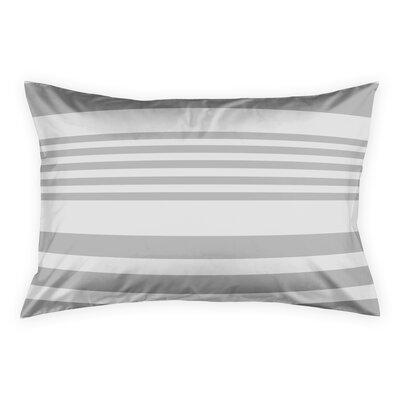 Qu Stripes Sham Size: King, Color: Gray