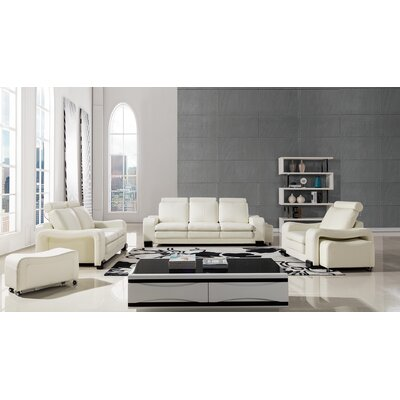Vierra 6 Piece Living Room Set Color: Ivory