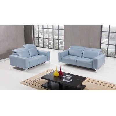Henn 2 Piece Living Room Set