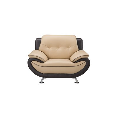 Vickrey Armchair Finish: Yellow/Brown