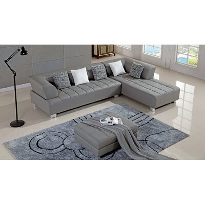 Henriquez Living Room Sectional Upholstery: Gray, Orientation: Left Hand Facing